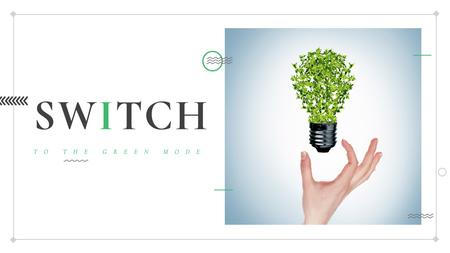Template di design Eco Light Bulb with Leaves Title