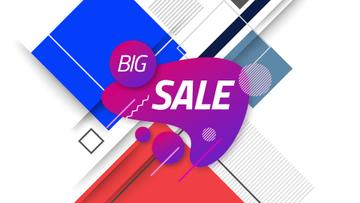 Sale Announcement Moving Blots and Rectangles