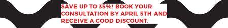Ontwerpsjabloon van Leaderboard van Business consultations with good discount
