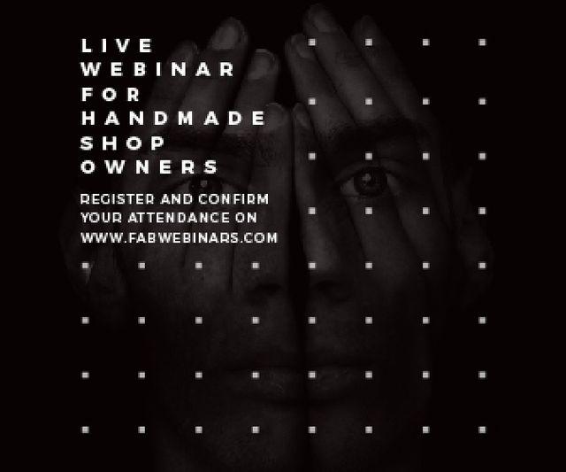Plantilla de diseño de Live webinar for handmade shop owners Large Rectangle