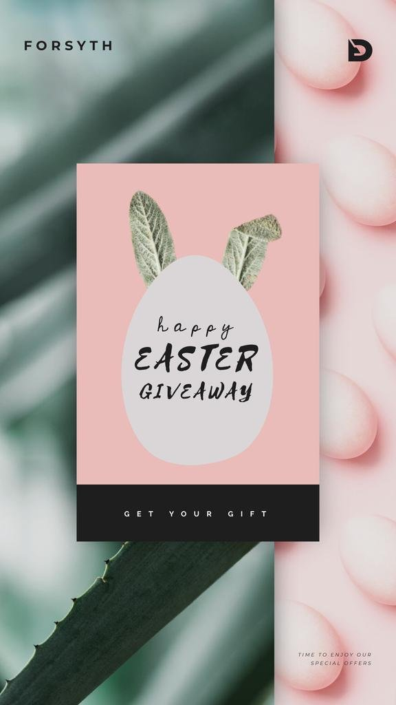 Easter Giveaway Egg with Bunny Ears  | Vertical Video Template — Create a Design