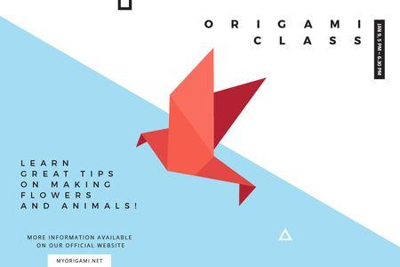 Ontwerpsjabloon van Gift Certificate van Origami class Annoucement