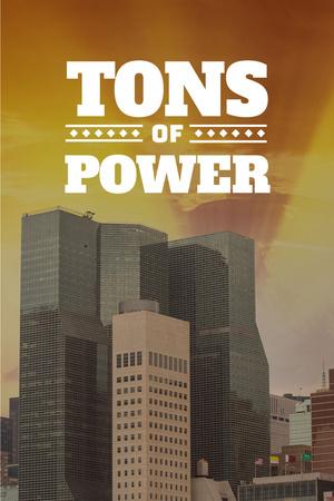 Plantilla de diseño de Tons of power with skyscrapers Pinterest