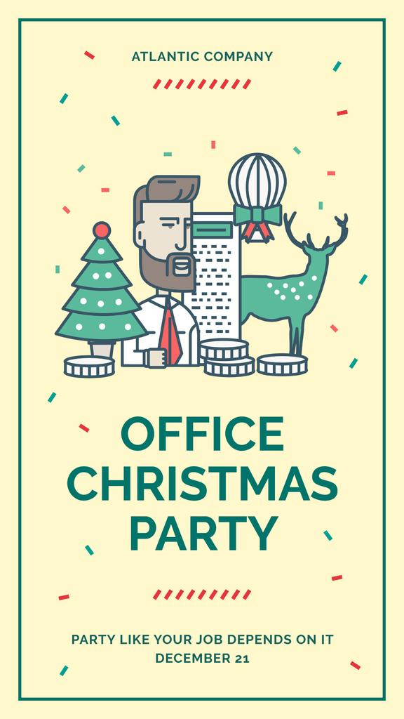 Christmas party in office — Create a Design