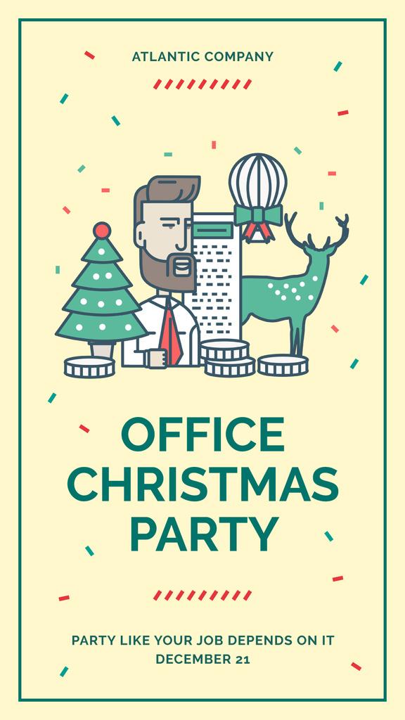 Christmas party in office — Maak een ontwerp