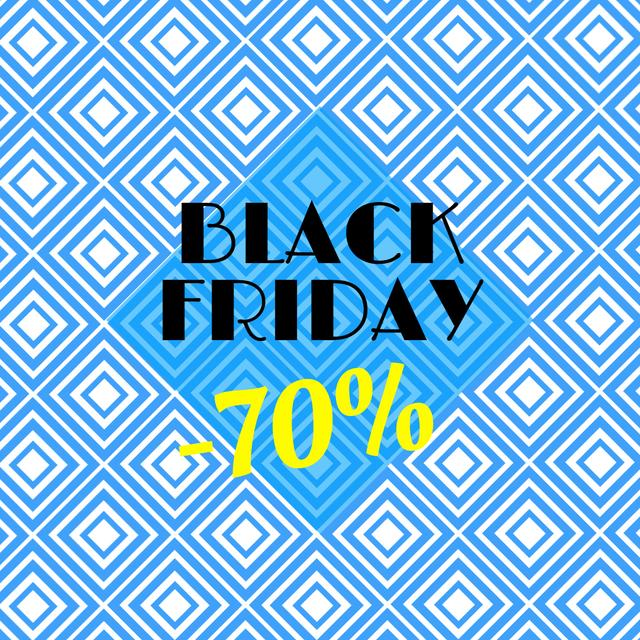 Modèle de visuel Black Friday Sale with Blue Kaleidoscope Pattern - Animated Post