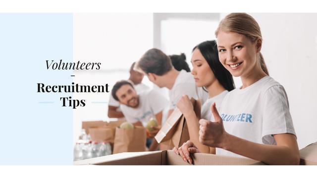 Modèle de visuel Volunteers recruitment tips - Presentation Wide