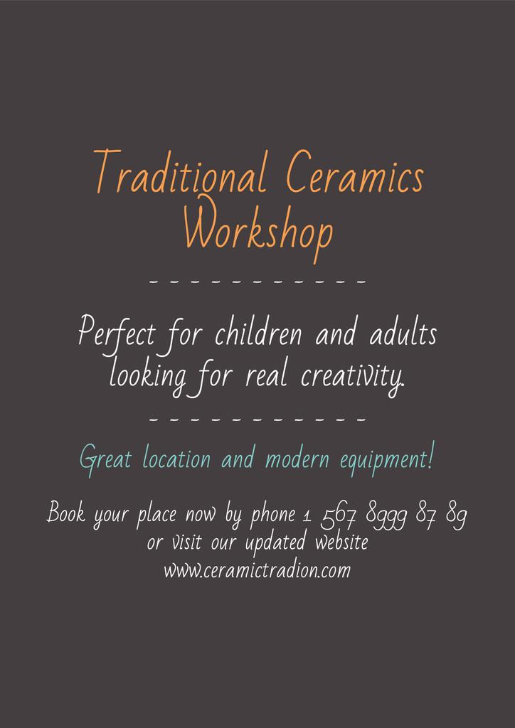 Traditional Ceramics Workshop — Create a Design