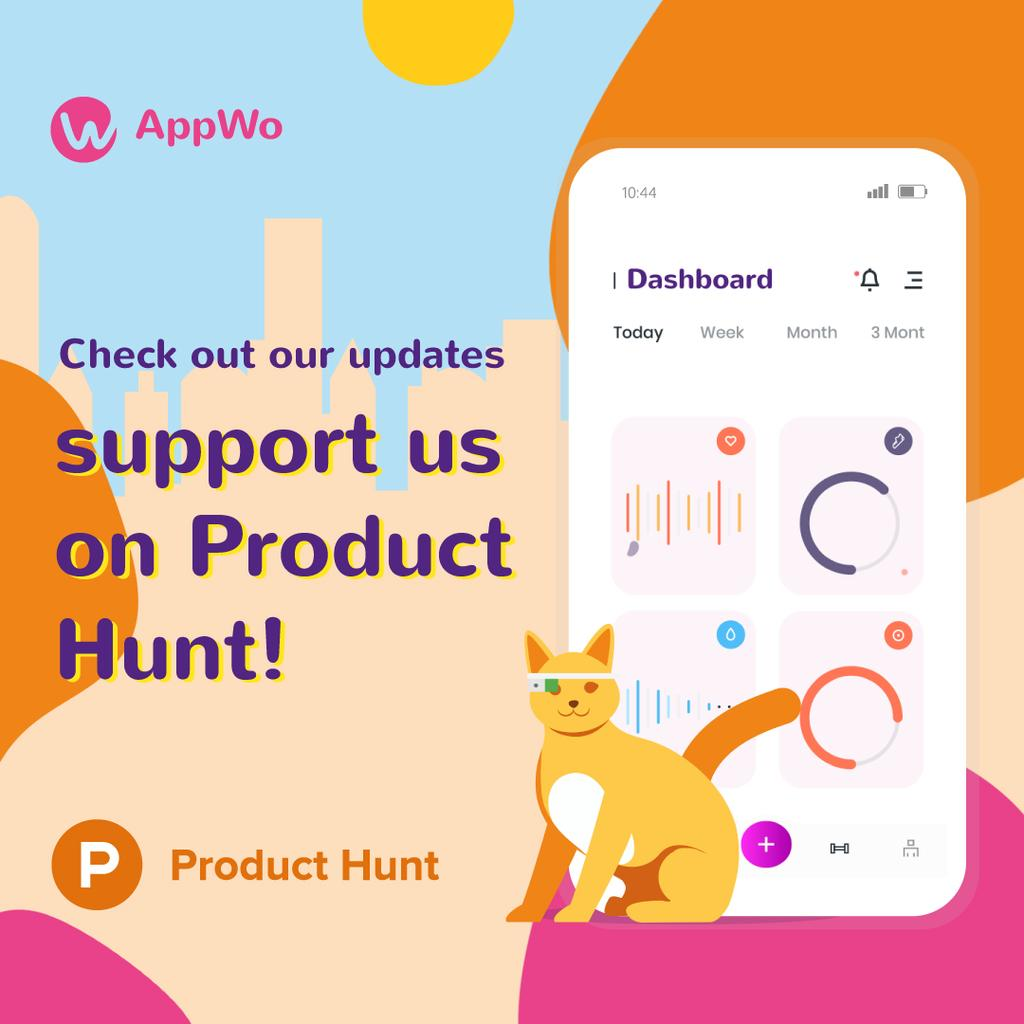 Product Hunt App Stats on Screen | Square Video Template — Створити дизайн