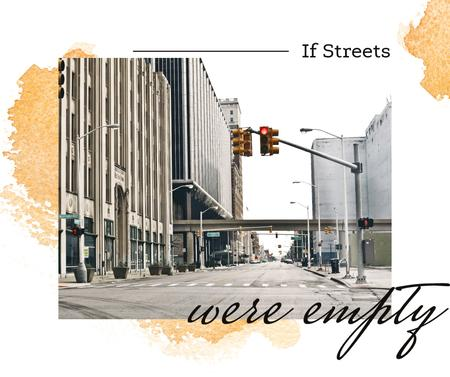 Template di design Traffic lights on city street Facebook