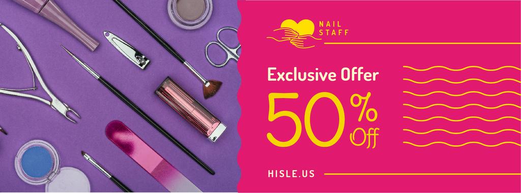 Makeup cosmetics set Offer in pink — Créer un visuel