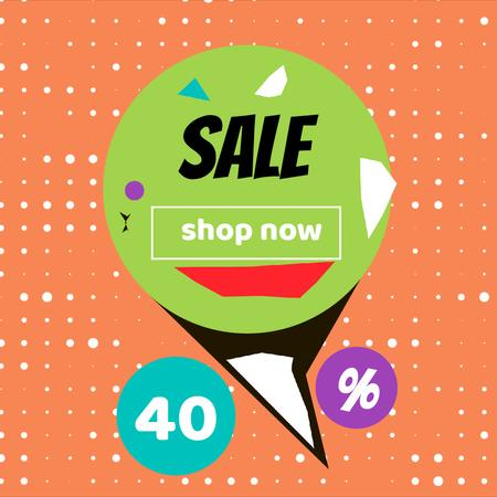 Plantilla de diseño de Sale Offer on Colorful geometric pattern Animated Post