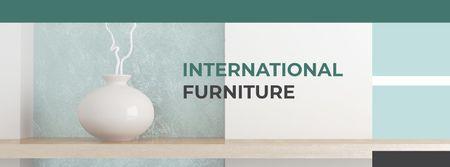 Designvorlage Vase for home decor für Facebook cover