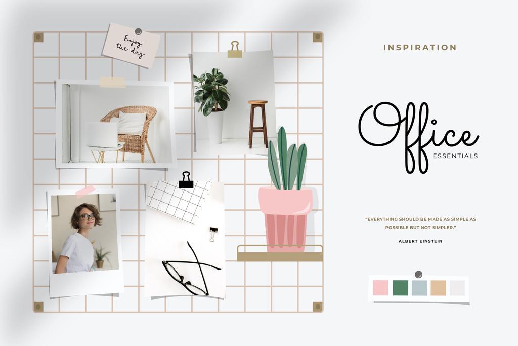 Young Girl at cozy Workplace — Créer un visuel