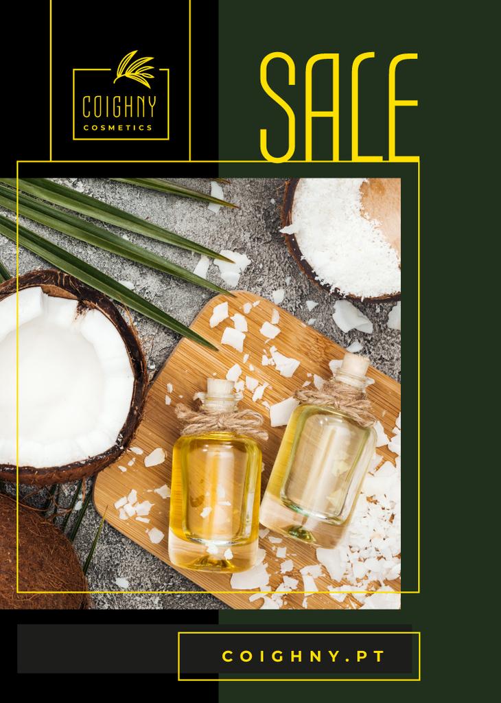 Cosmetics Offer Natural Oil in Glass Bottles — Создать дизайн
