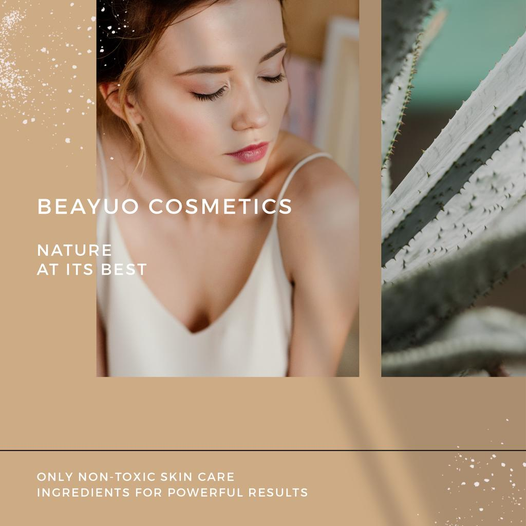 Cosmetics Products Offer with Tender Woman — Crear un diseño