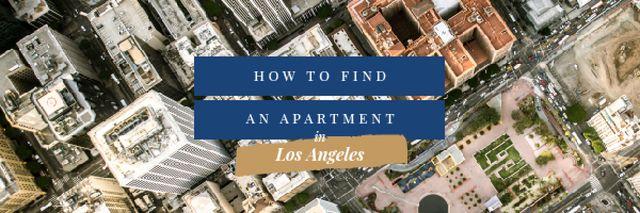 Ontwerpsjabloon van Email header van Real Estate in Los Angeles City