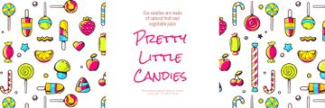 Pretty little candies banner