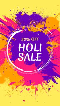 Indian Holi festival sale