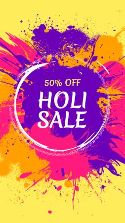 Indian Holi festival sale Instagram Story Design Template