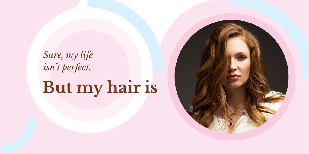 Young redhead woman Image Design Template