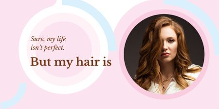 Ontwerpsjabloon van Image van Young redhead woman