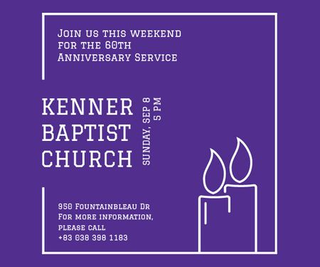 Modèle de visuel Kenner Baptist Church  - Medium Rectangle