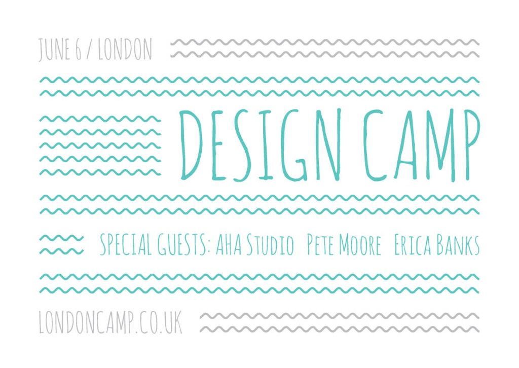 Design camp in London — Создать дизайн