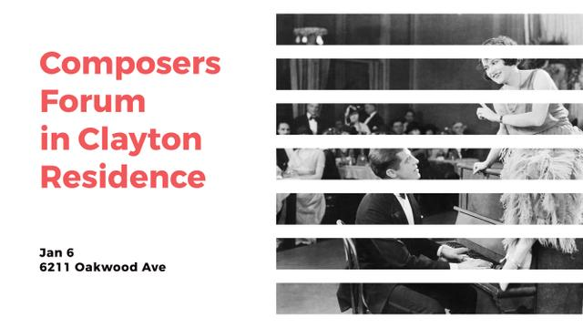 Designvorlage Composers Forum in Clayton Residence für Youtube
