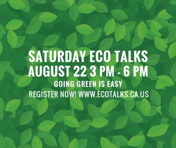 Ecological Event Announcement Green Leaves Texture | Facebook Post Template