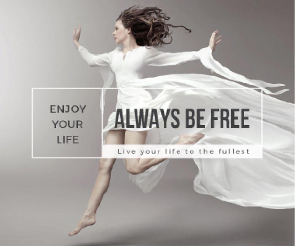 Inspiration Quote Woman Dancer Jumping — ein Design erstellen