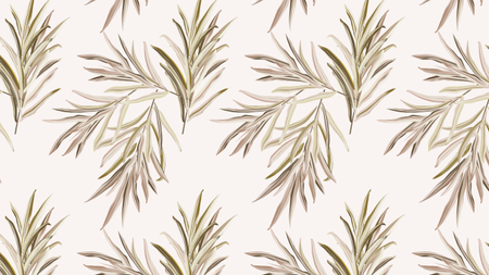 Plantilla de diseño de Green Leaves Pattern Zoom Background
