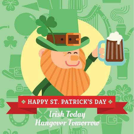 Template di design St. Patrick's day Greeting Instagram