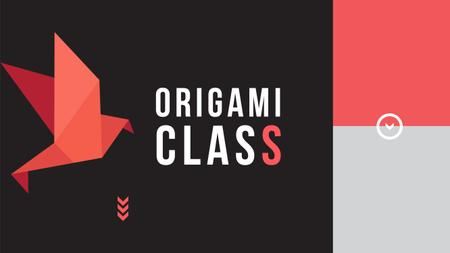 Origami class Invitation Youtube Modelo de Design