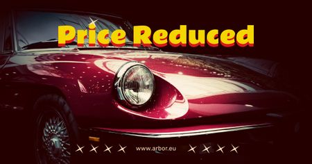 Szablon projektu Shiny red car Offer Facebook AD