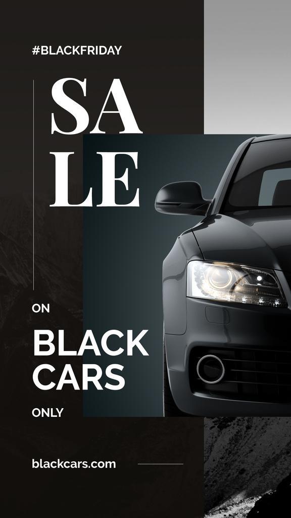 Black Friday Ad Modern sports car — Maak een ontwerp