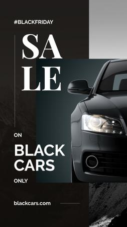 Black Friday Ad Modern sports car Instagram Storyデザインテンプレート