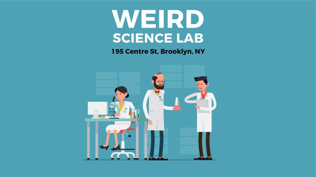 Science Laboratory Team Working in Blue — Créer un visuel