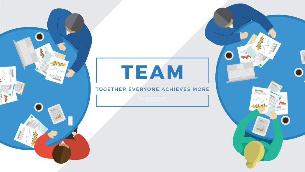 Business people working together at table — Создать дизайн