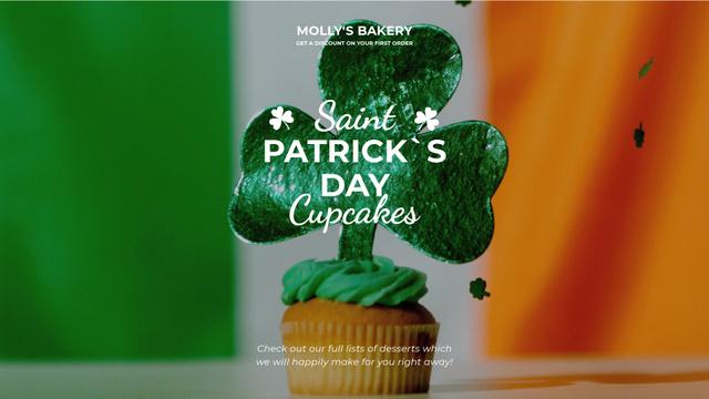 Modèle de visuel Saint Patrick's Day cupcake - Full HD video