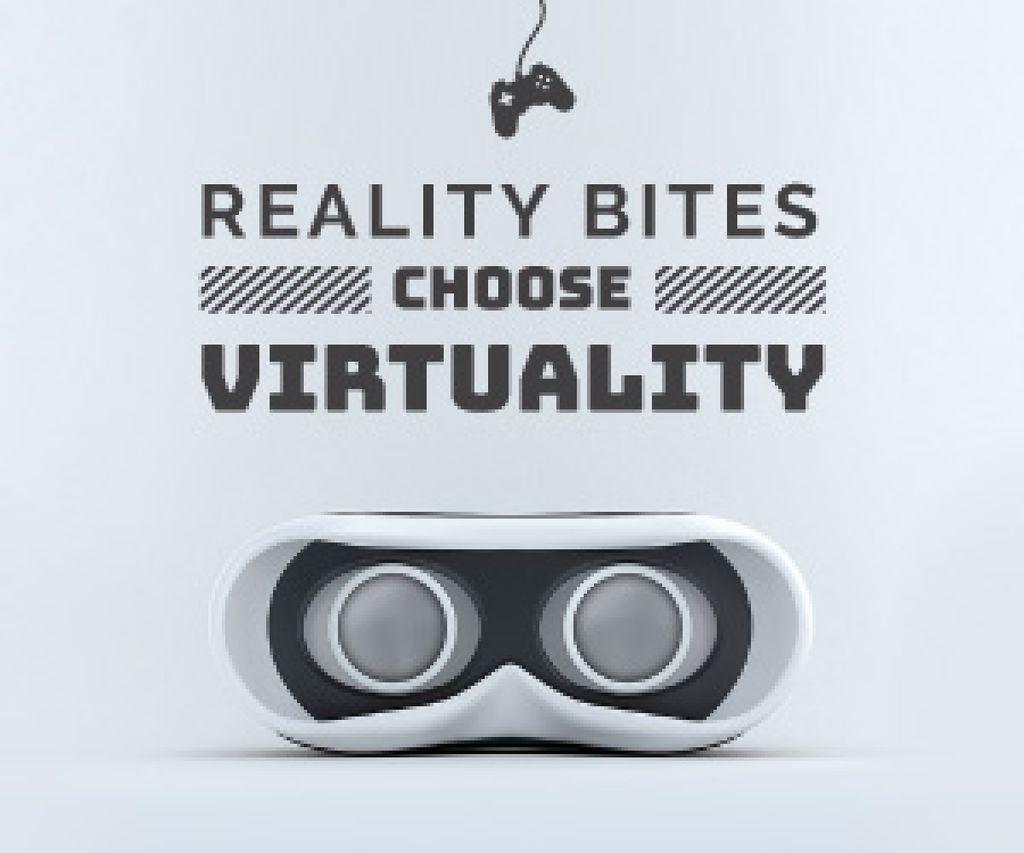 Designvorlage Virtual Reality Glasses in White für Medium Rectangle