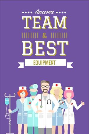Plantilla de diseño de Professional team of medical staff Tumblr