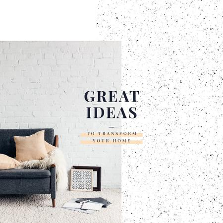 Cozy interior in light colors Instagram Design Template