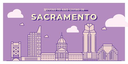 Sacramento city view Image Modelo de Design