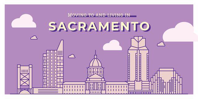 Plantilla de diseño de Sacramento city view Image