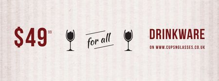 Plantilla de diseño de Drinkware for all shop Facebook cover