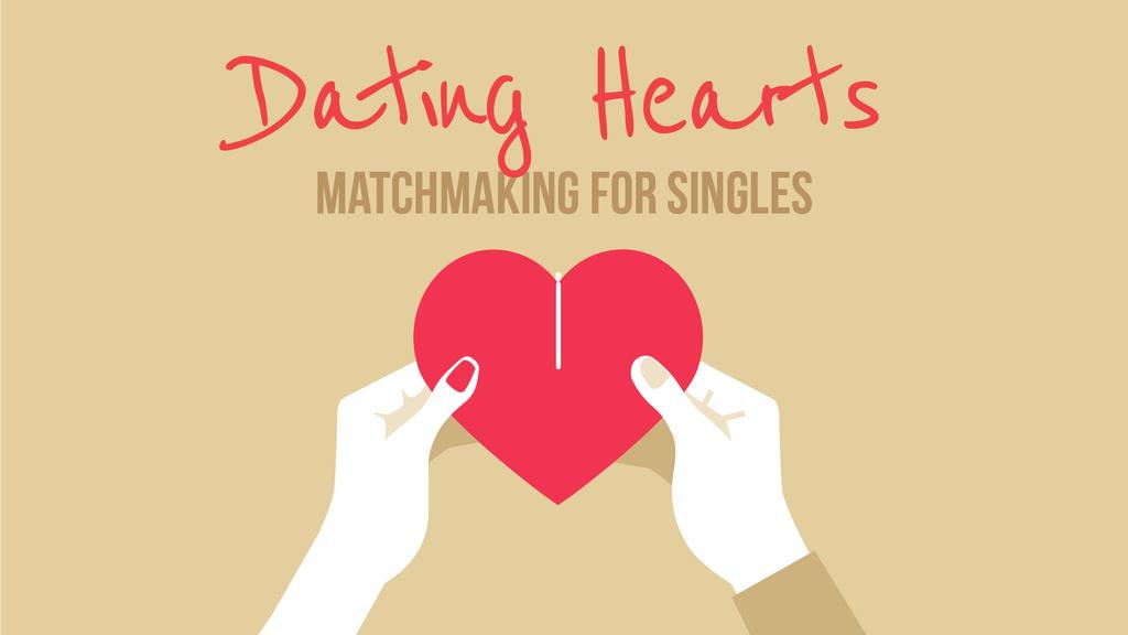Couple connecting Valentine's Day Heart  — Modelo de projeto
