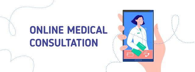 Plantilla de diseño de Online Medical consultation Facebook cover