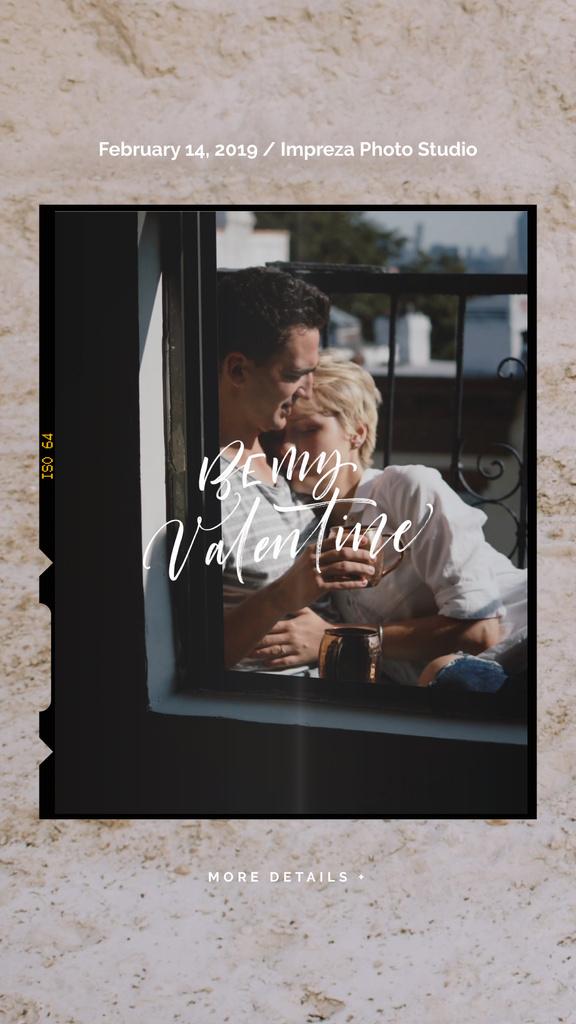 Valentine's Day Greeting Hugging Loving Couple | Vertical Video Template — Создать дизайн