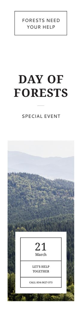 International Day of Forests Event Scenic Mountains – Stwórz projekt